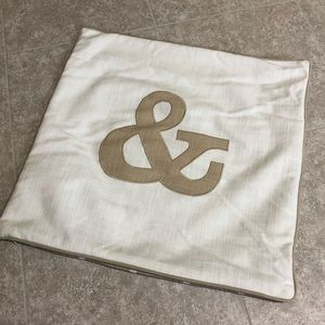 """Ampersand 18"""" Pillow Cover"""